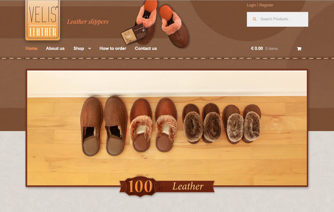 Launched a new website of Velis Leather